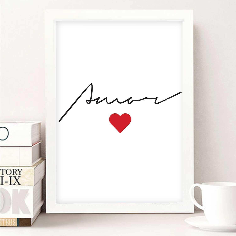 Quadro Palavra Amor