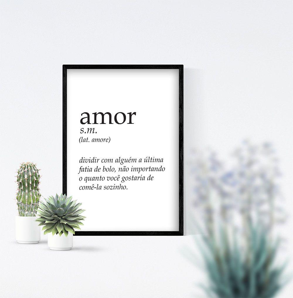 Quadro Frase Significado Amor