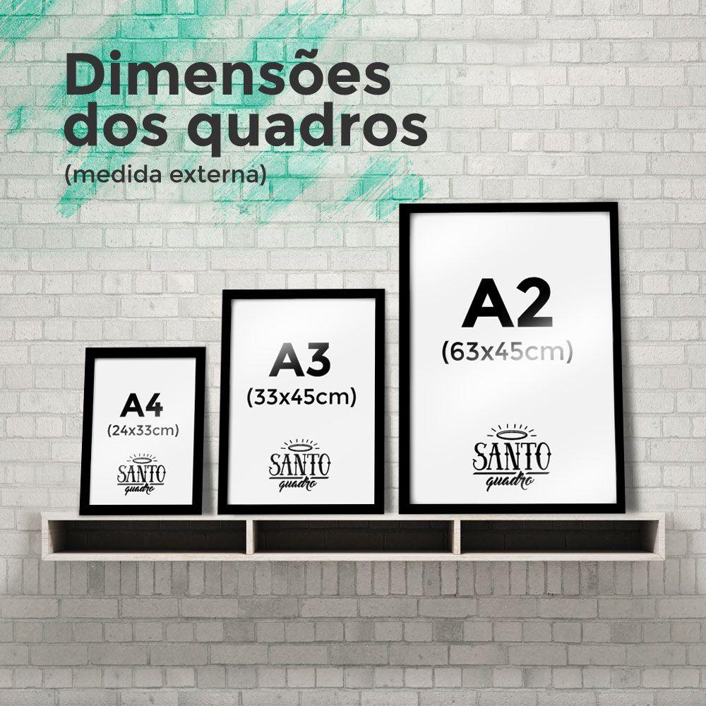 Quadro Good Vibes Only Geométrico