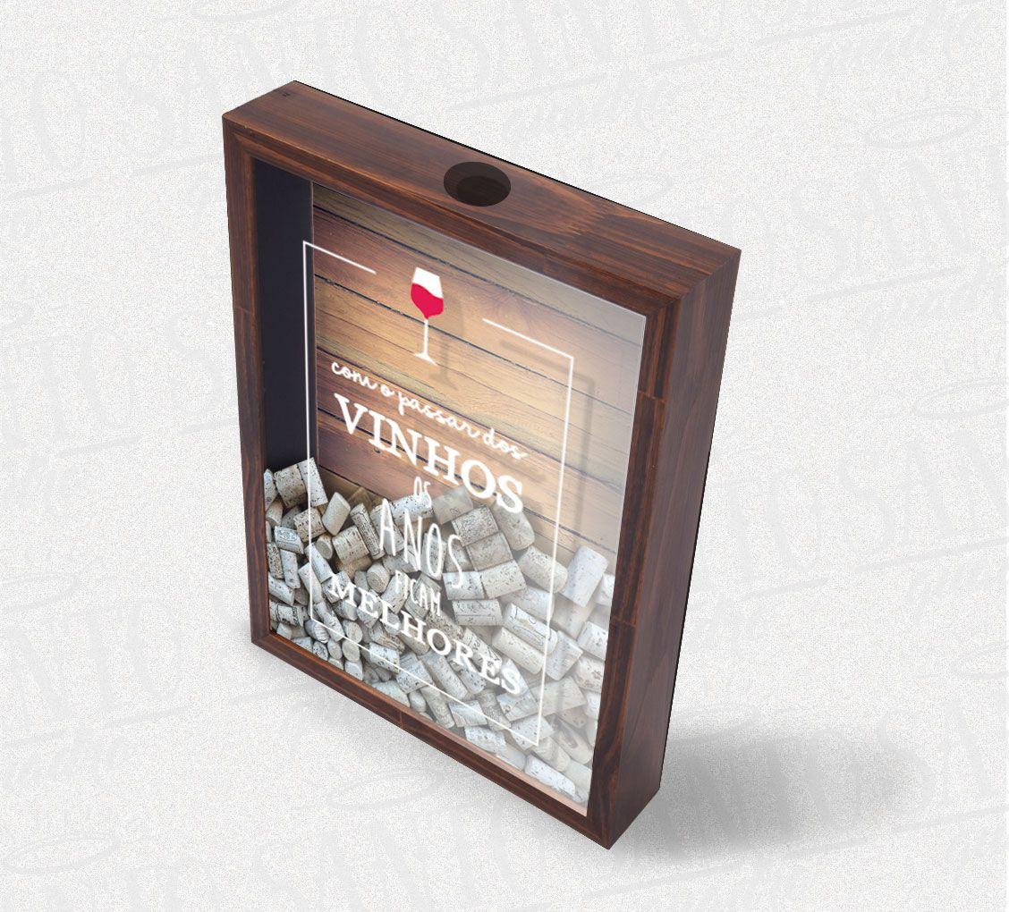 Quadro Porta Rolhas Com O Passar Dos Vinhos os Anos Ficam Melhores- Arte 2