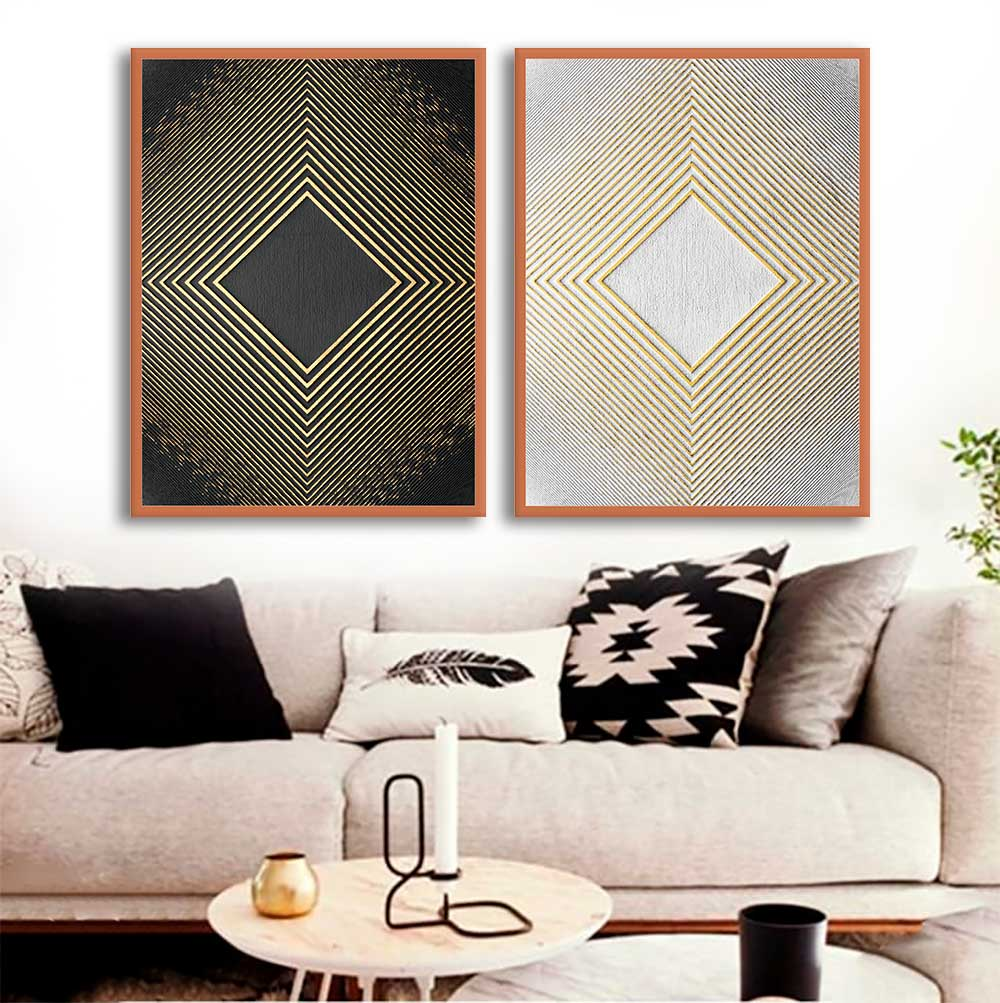 Quadros Decorativos Abstrato Gold