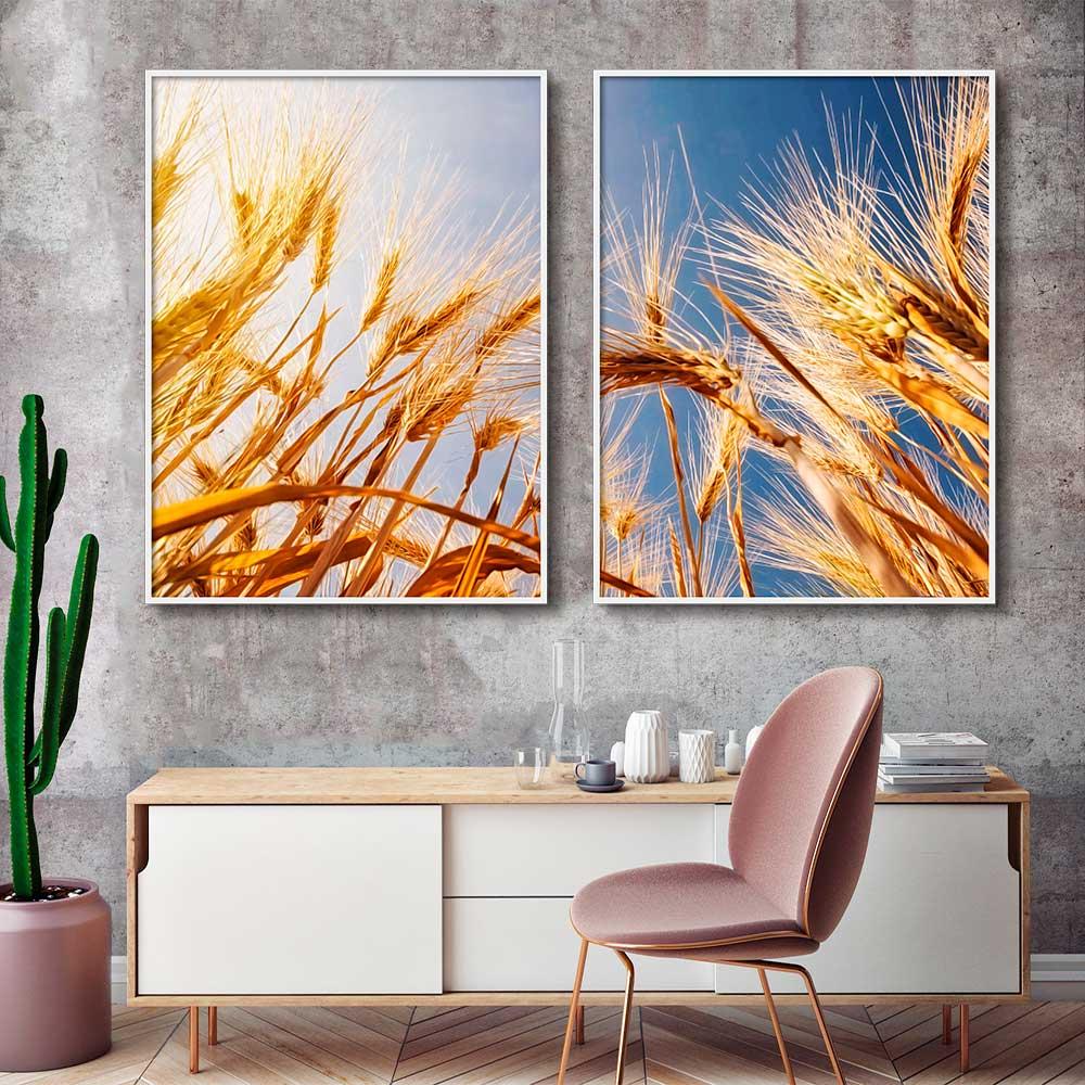 Quadros Decorativos Agro Plantio Trigo