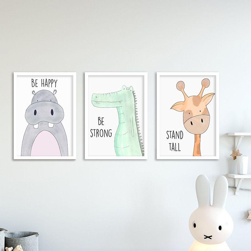 Quadros Decorativos de Animais para Quarto Infantil