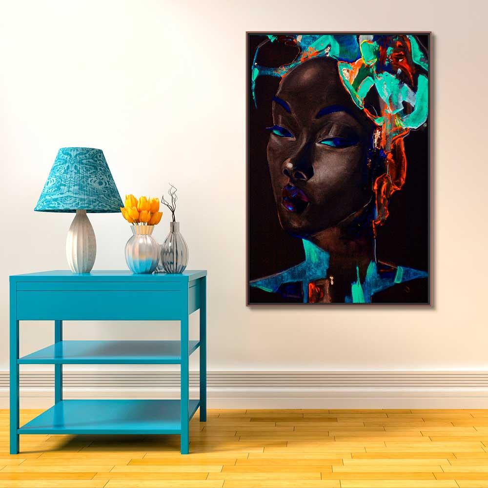 Quadros Decorativos em Tecido Canvas - Arte Afro Pintura