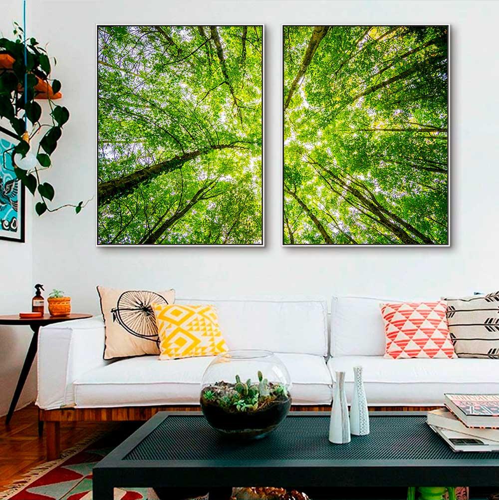 Quadros Decorativos em Tecido Canvas - Copa de Árvore Fotografia