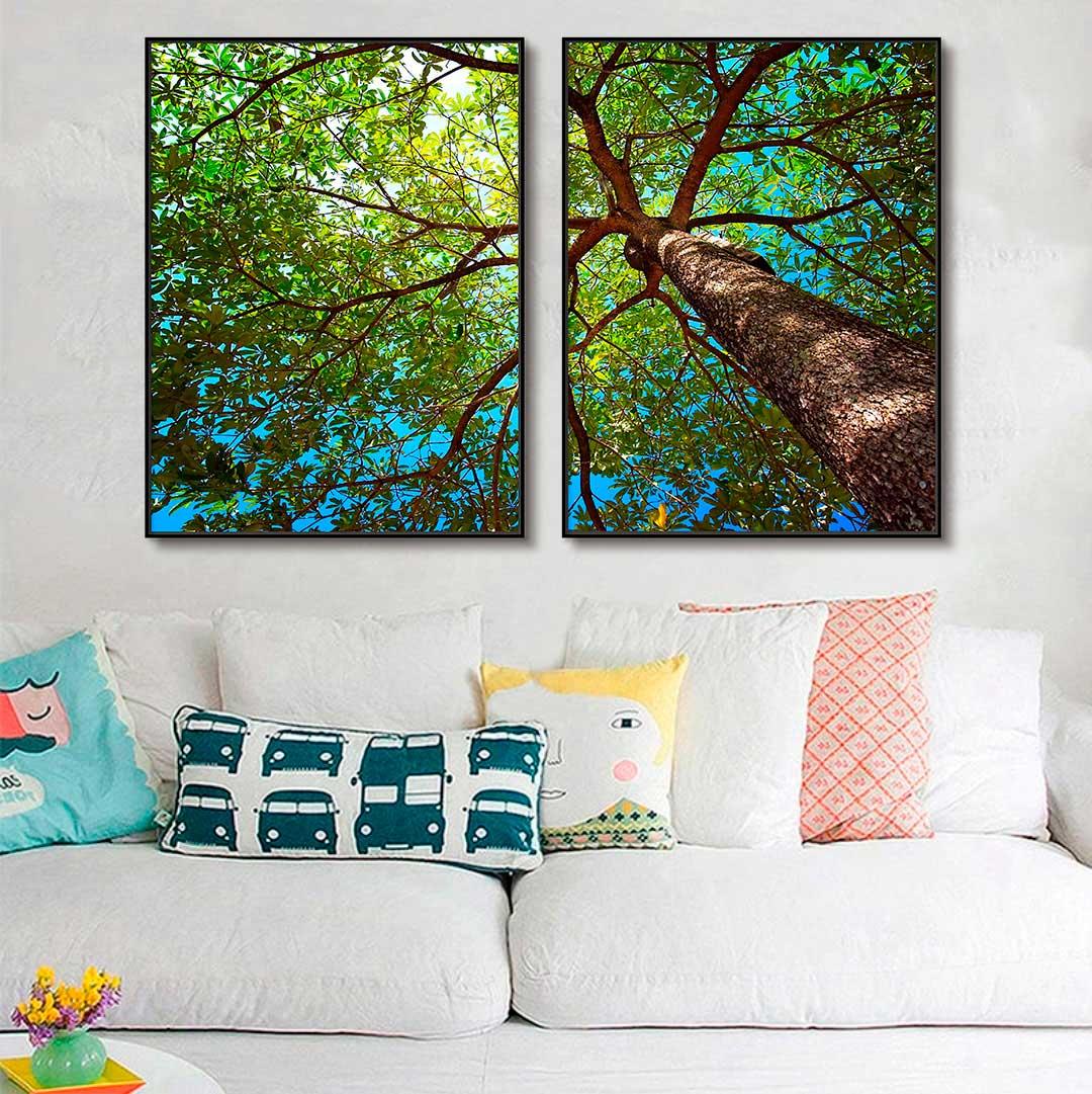 Quadros Decorativos em Tecido Canvas - Fotografia Árvore