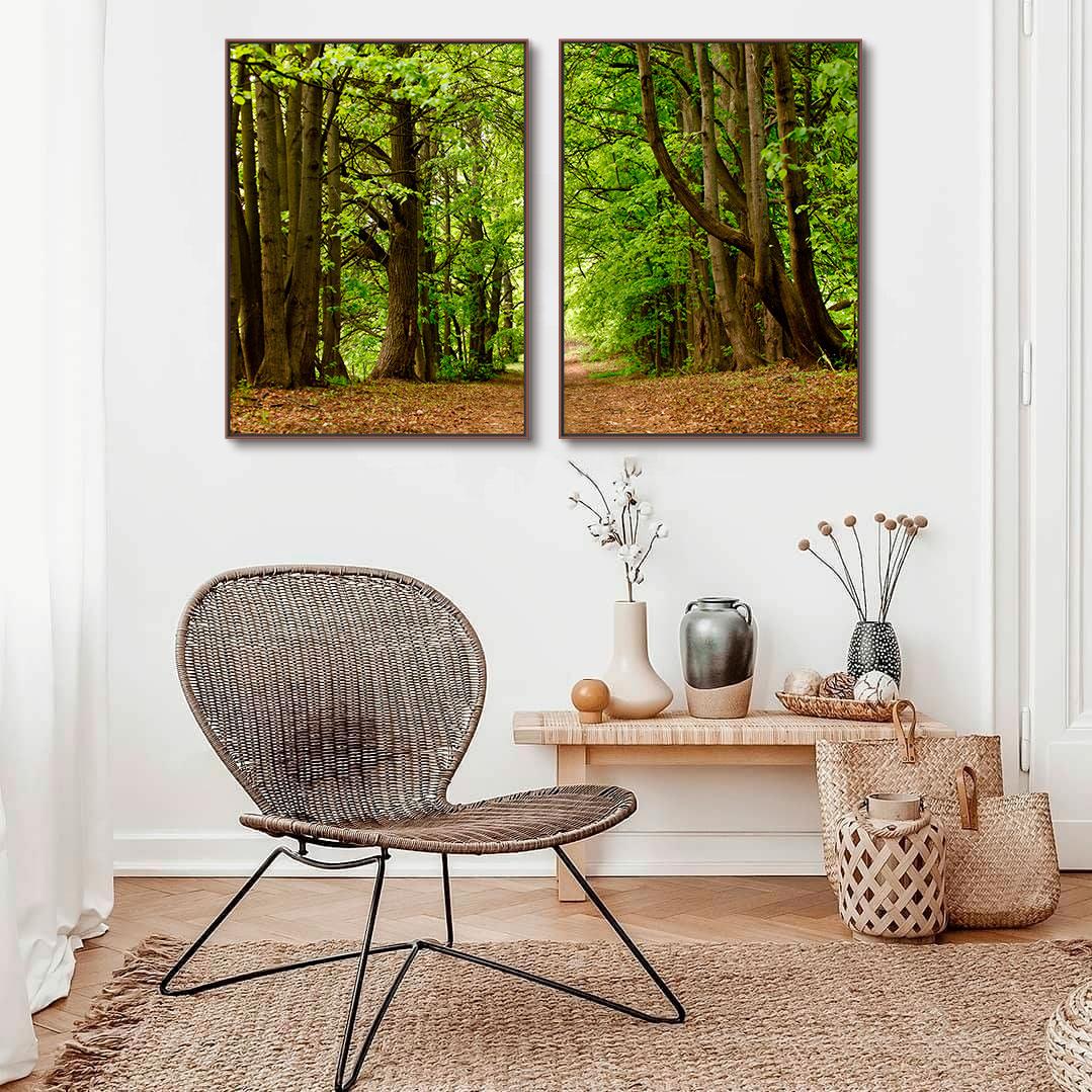 Quadros Decorativos em Tecido Canvas - Fotografia Caminho Floresta