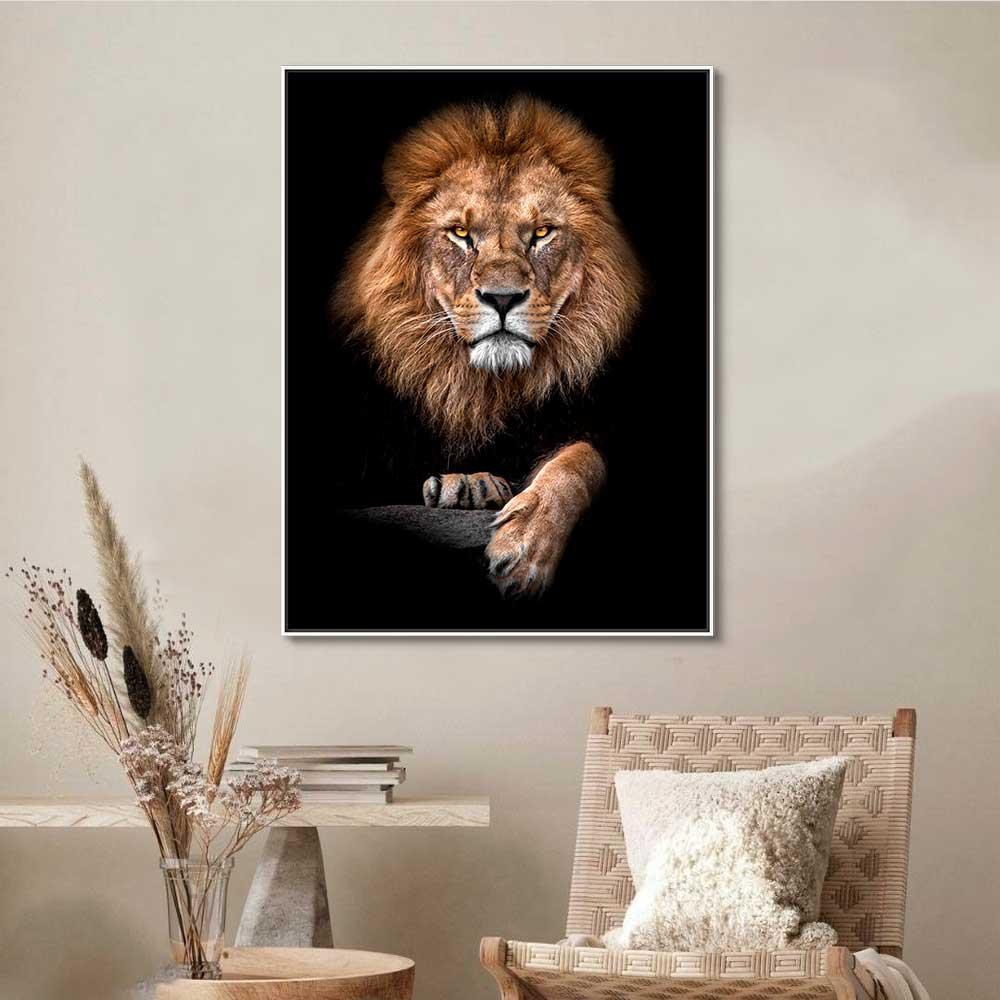 Quadros Decorativos em Tecido Canvas - Leão de Judá