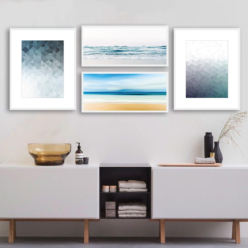 Quadros Decorativos Quarteto de Imagens Abstratas