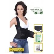 Kit Seca Cintura Master Plus - Destroyer + Creme + Cápsulas + Tala de Contenção Abdominal