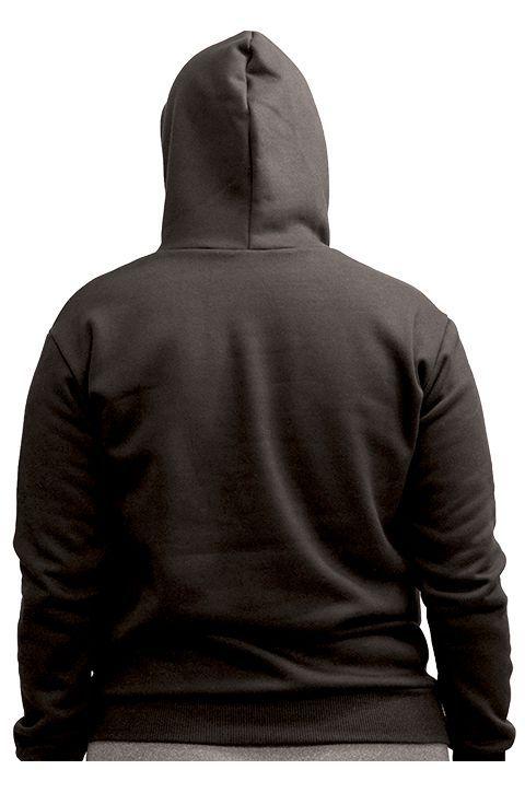 Blusa de Frio Moletom com Capuz Canguru Liso