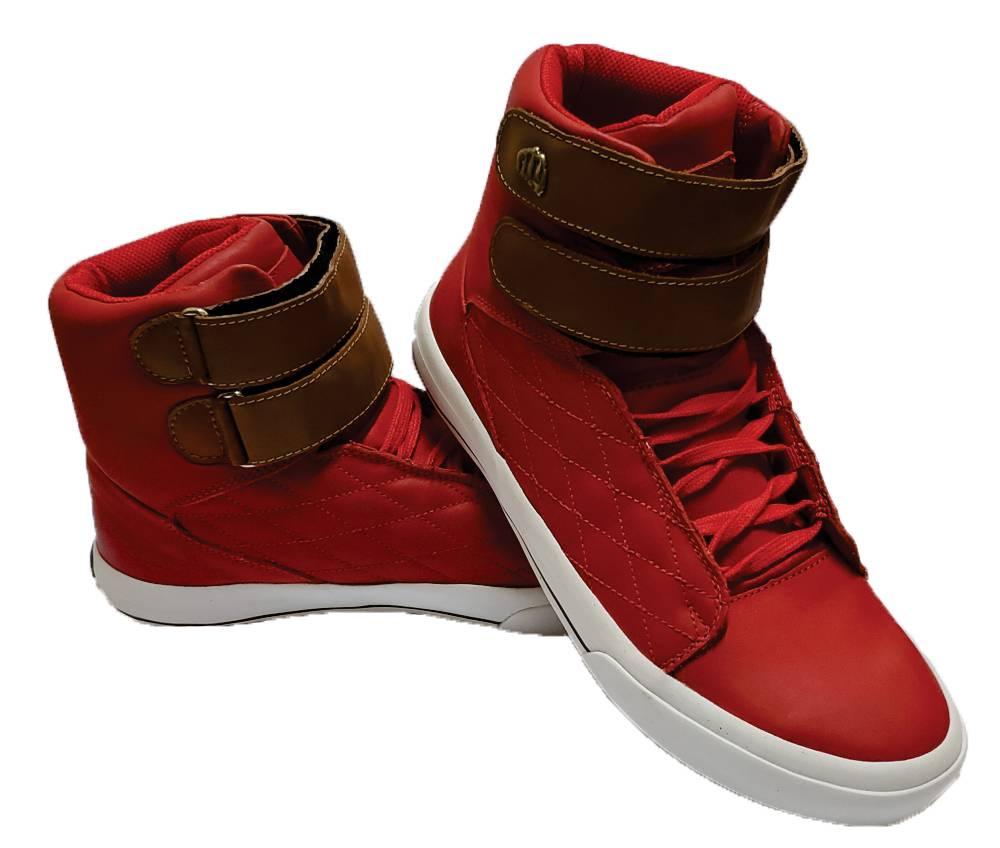 Bota Fitness Vermelha - Couro