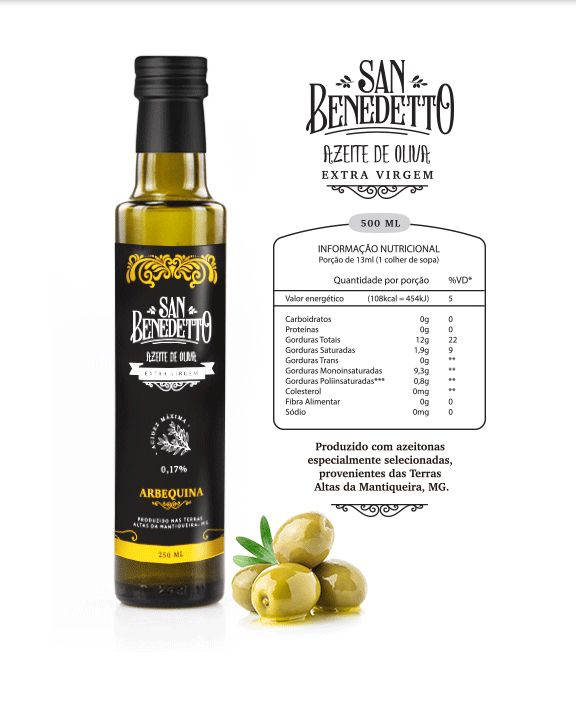 Azeite San Benedetto - Arbequina 250ml