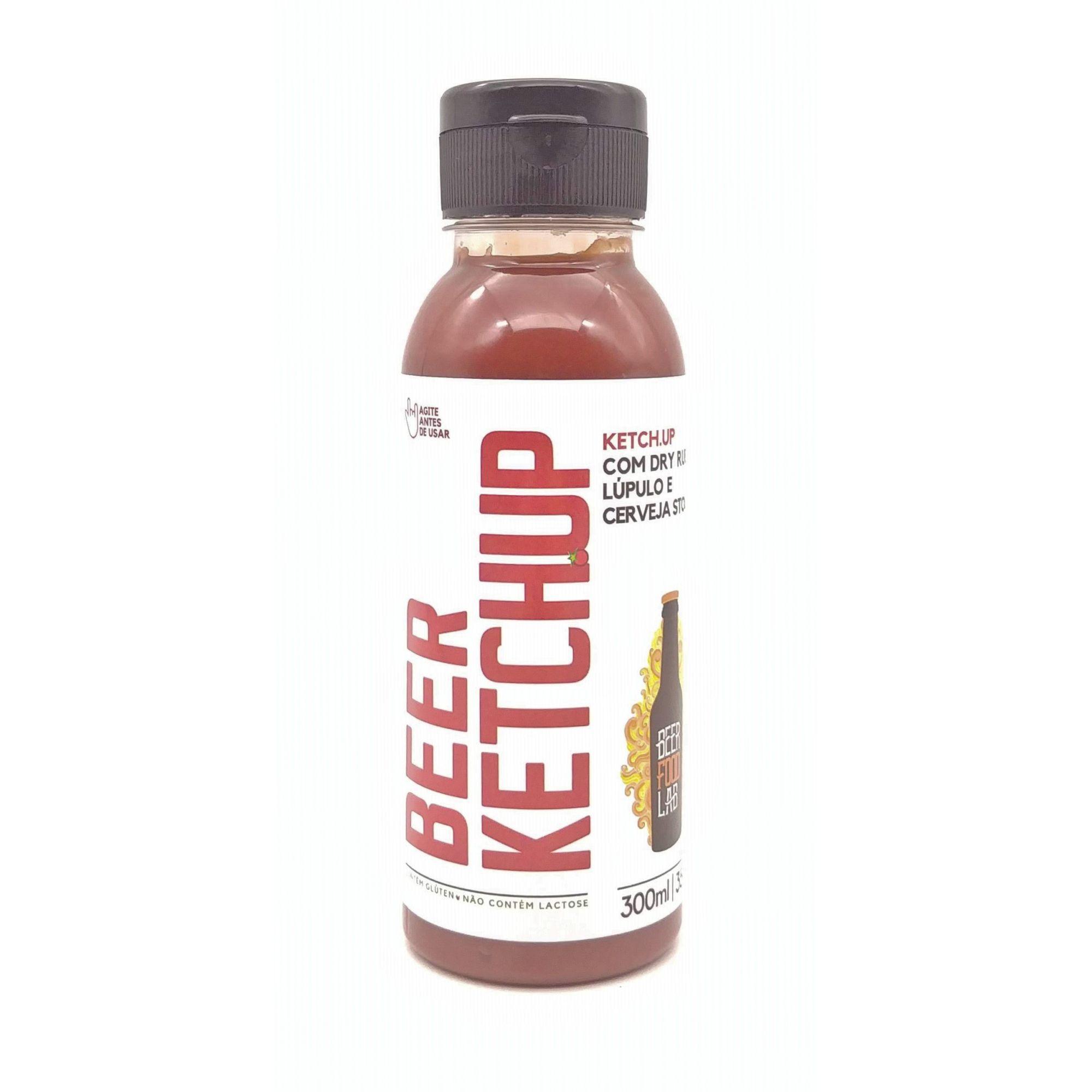 BEER KETCHUP - Ketchup com Dry Rub, Lúpulo e Cerveja Stout 300ml