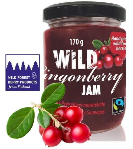 GELEIA SABOR LINGONBERRY 170GR - Made in Finland