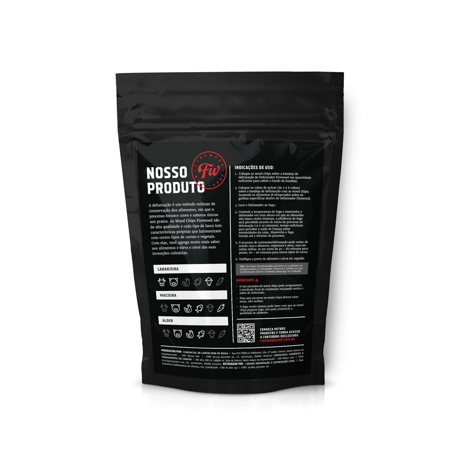 Wood Chips para Defumação - Laranjeira