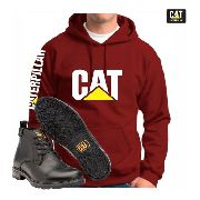 Kit Bota Caterpillar Masculina + Blusa Moletom Cat