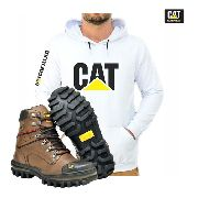 Kit P/frio Bota Caterpillar Blusa Moletom Cat Masculino