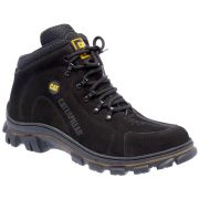 Coturno Caterpillar Adventure Masculino Couro - Preto