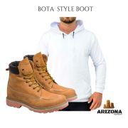 Bota Coturno Adventure Arizona Canyon Boot + Moleton Liso Branco