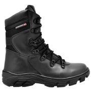 Bota Coturno Tático Militar com Zíper Atron Shoes 280 - Preto