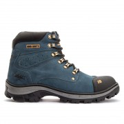 Bota Masculina Jhon Boots Obras Estilo Cater. Couro Azul 1600