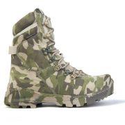 Bota Militar  Exército Tiger Multican Camuflada Acero - Verde/Bege