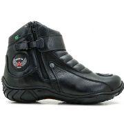 Bota Motociclista Atron Shoes Masculina 271- Preto