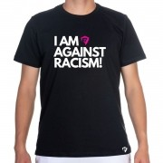Camiseta T-Shirt Masculina Estampa Frases I Am Against Rascism - 100% Algodão