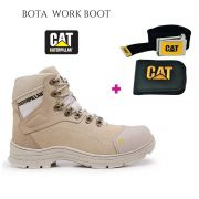 Bota Caterpillar Work Boot Desert + Carteira Cinto Cat