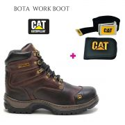 Bota Coturno Caterpillar Work Hard + Carteira Cinto Cat