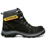 Coturno Caterpillar Work Adventure Couro - Black