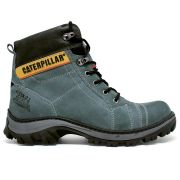 Coturno Caterpillar Work Adventure Couro - Grey/Green