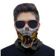 Máscara Bandana Caveiras Proteção Solar UV25+ Pesca Ciclismo Motociclista