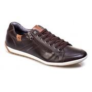 Sapatenis Masculino Tchwm Shoes Couro Zíper Conforto 2050