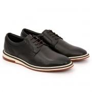 Sapato Brogue Alpha Premium Masculino Polo City Confort  em Couro com Cadarço