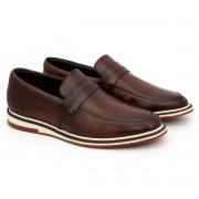 Sapato Brogue Alpha Premium Masculino Polo City Confort  em Couro Fácil de Calçar