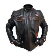 Super Jaqueta Harley Davidson Masculino e Luva em Couro Preto