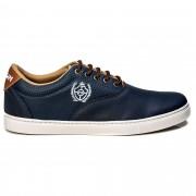 Tênis Polo Casual Masculino Tchwm Shoes Leve Macio Azul Marinho + Carteira