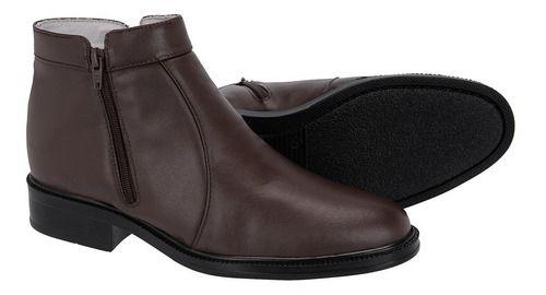 Botina Tchwm Shoes Confortável Leve Couro Pelica - Cores