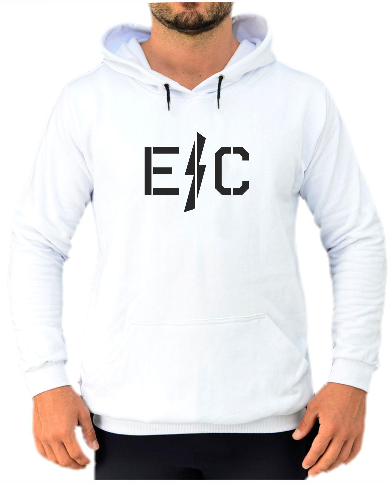Blusa Moletom Canguru Masculino Efect Raio - Branco