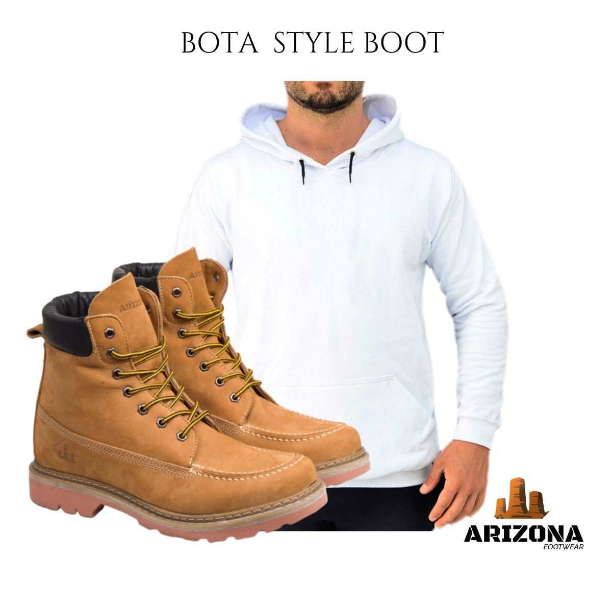 Bota Coturno Adventure Arizona Canyon Boot  Moleton Liso Branco