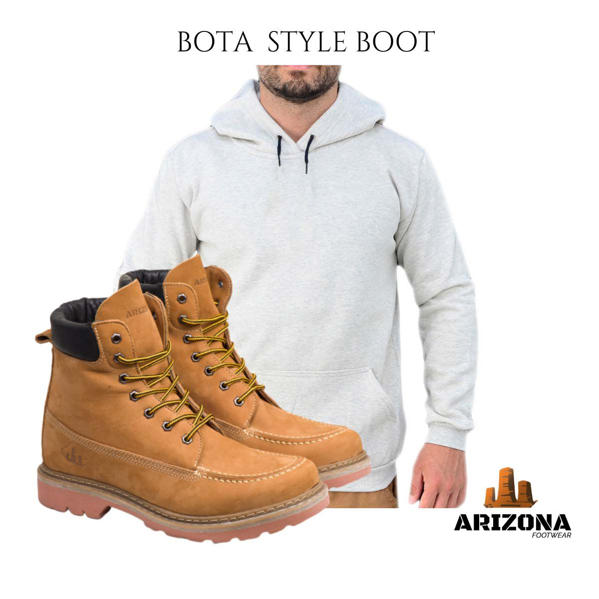 Bota Coturno Adventure Arizona Canyon Boot Moleton Liso Cinza