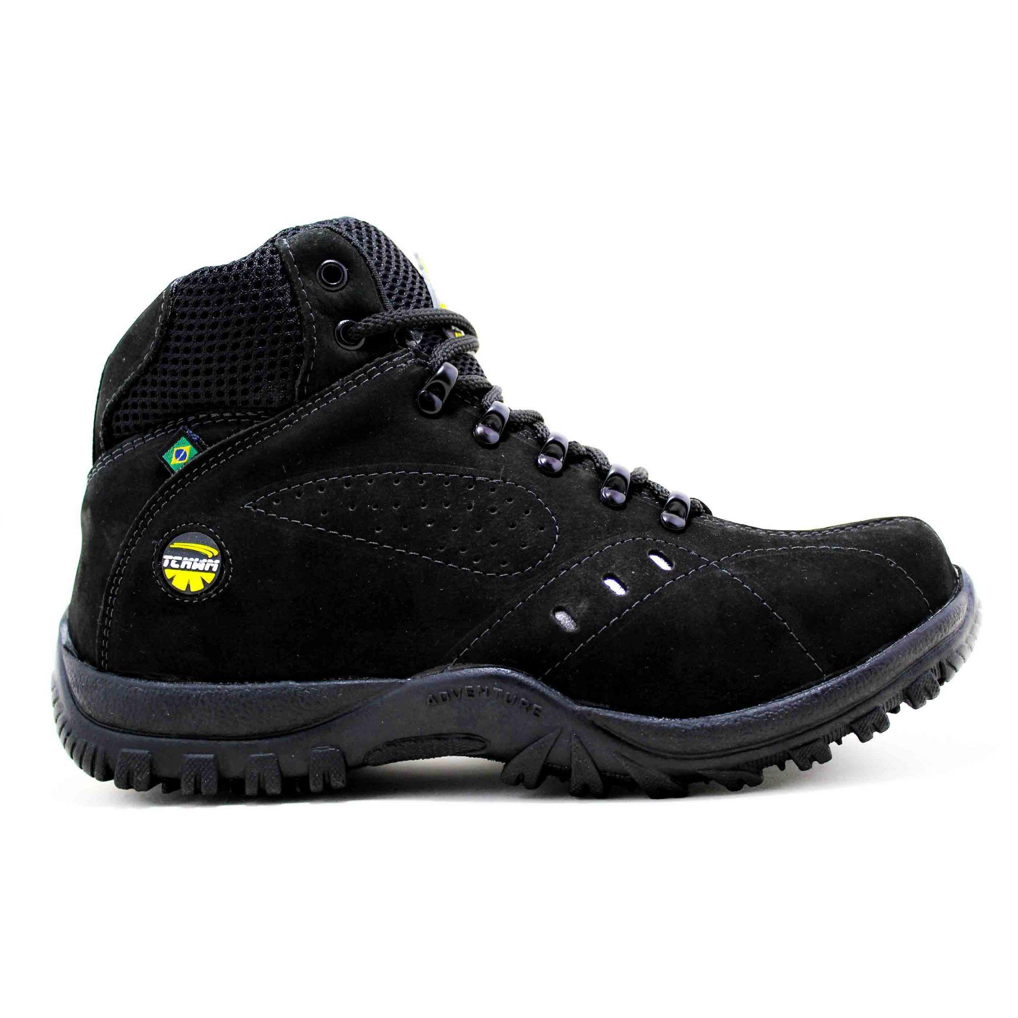 Bota Coturno Adventure Boots Masculino Couro Nobuck -  Preto