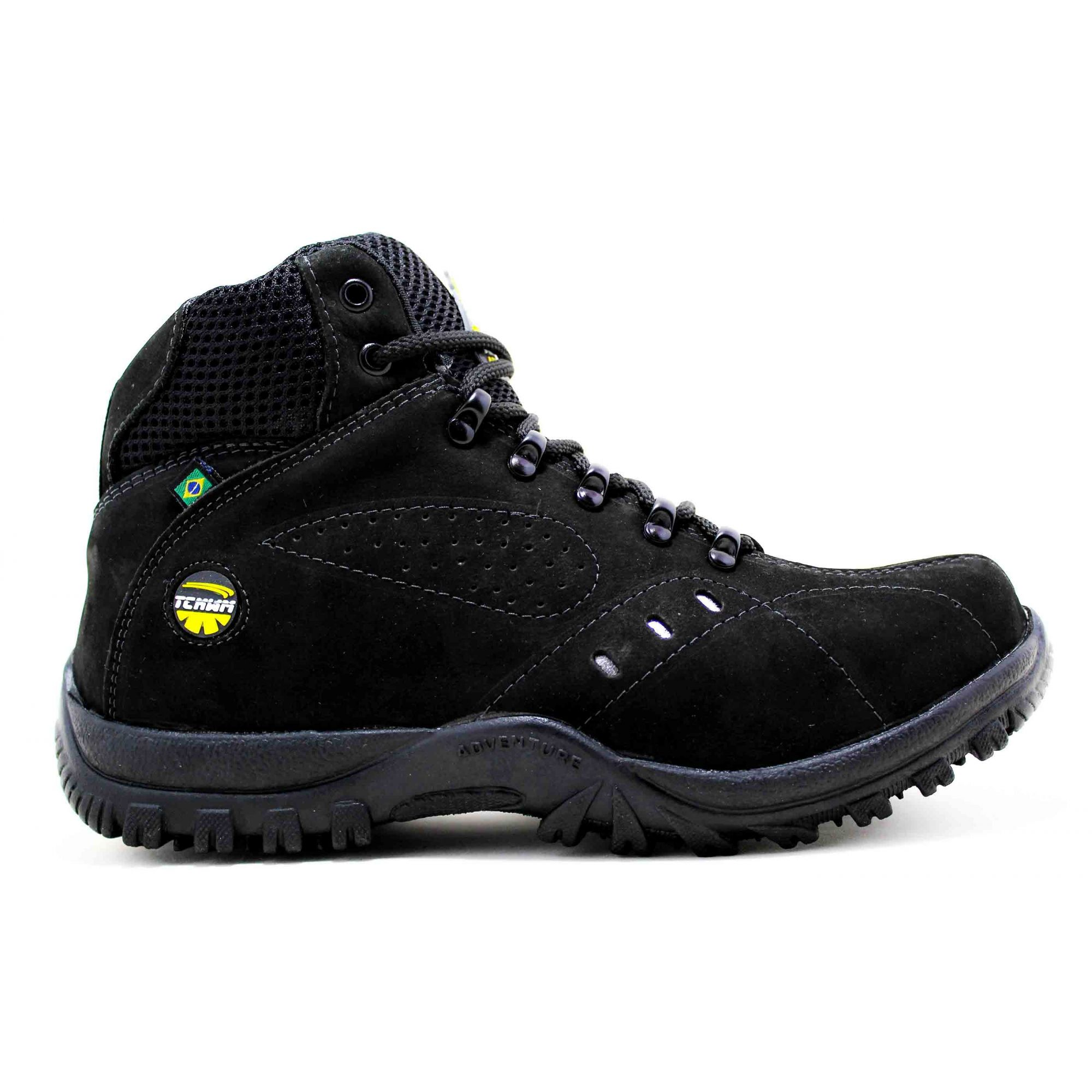 Bota Coturno Adventure Boots Masculino Couro Nobuck - Preto - Madrid Outlet  ... 853389b744