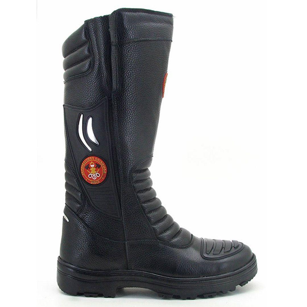 Bota Coturno Bombeiro Civil Atron Shoes 295 - Preto