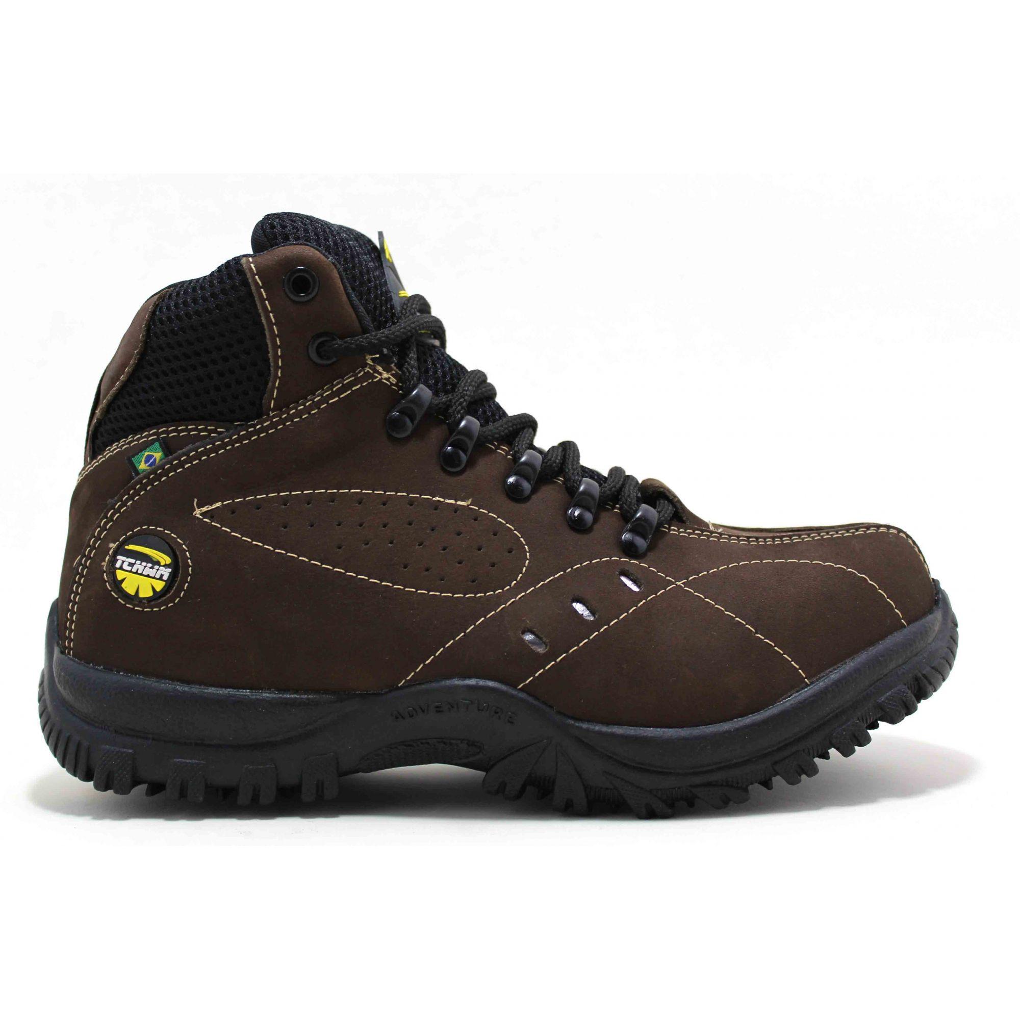 Bota Coturno Boots Adventure Masculino Couro Nobuck - CAFÉ 6dd798430f