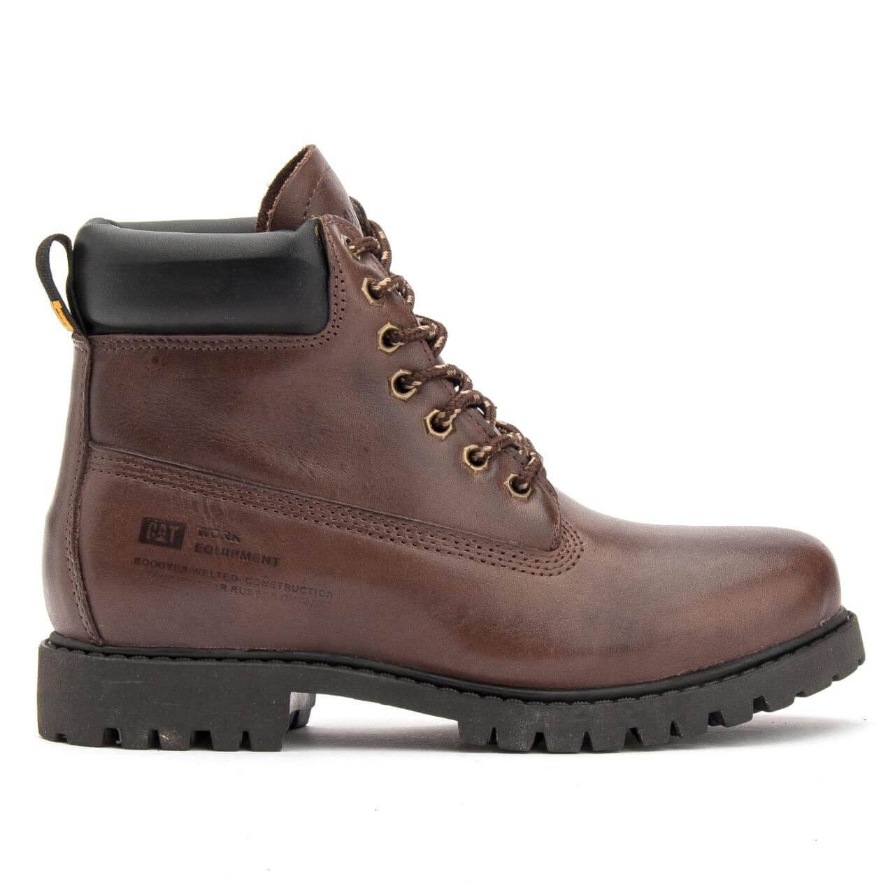 Bota Coturno Caterpillar Masculina On Boot Couro - Café