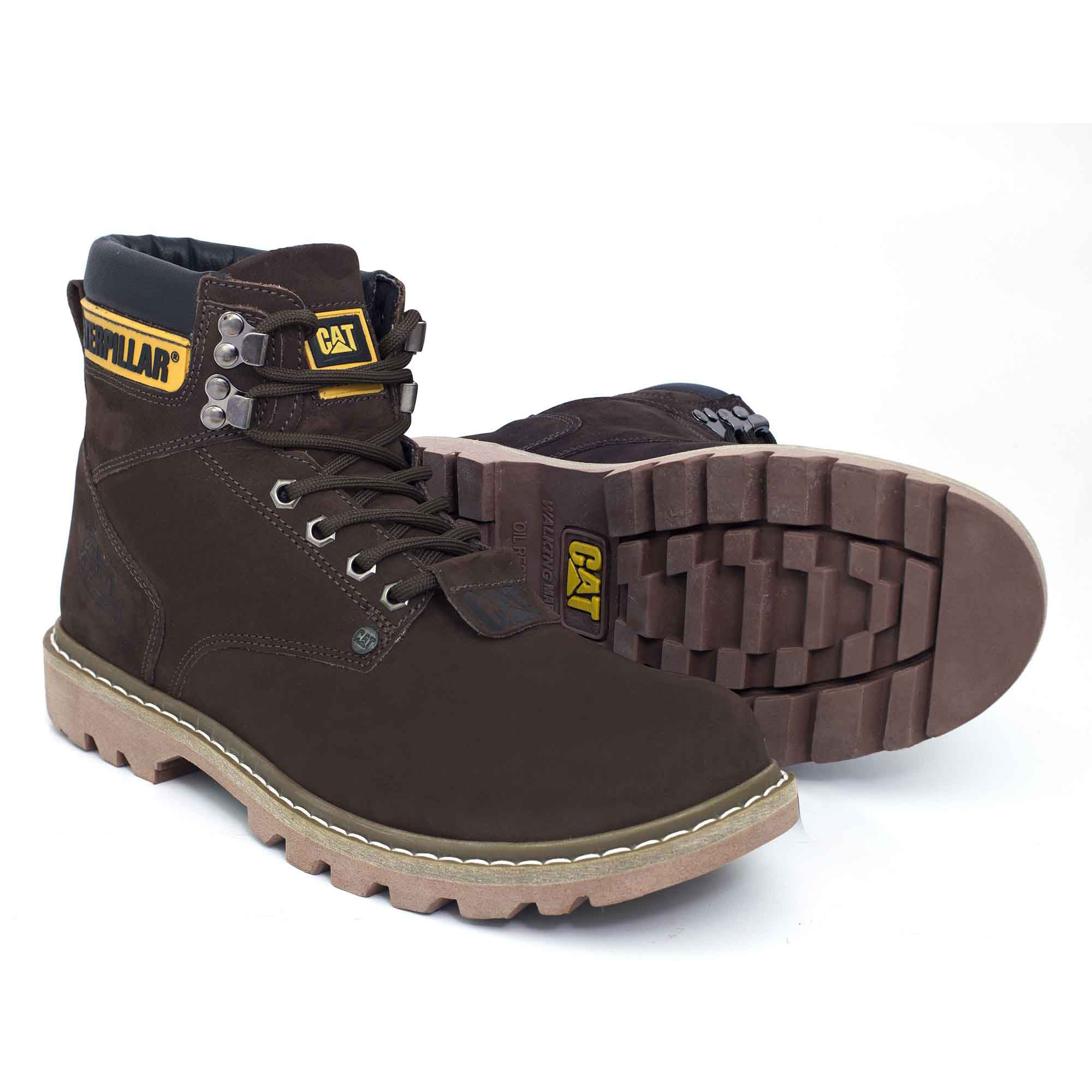 16ba7de1 Bota Coturno Caterpillar Second Shift Couro - Brown