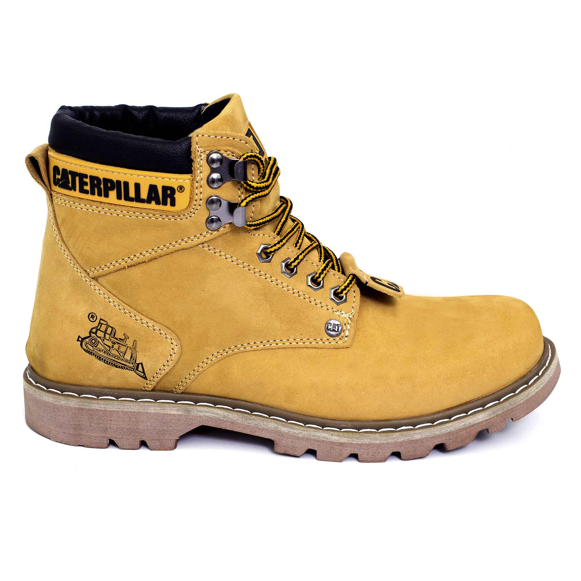 72fd14f7d43f6 Bota Coturno Caterpillar Second Shift Couro - Yellow